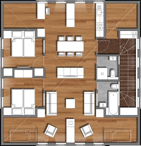 ferienwohnung loft b7 im burgener haus in saas grund wallis. Black Bedroom Furniture Sets. Home Design Ideas